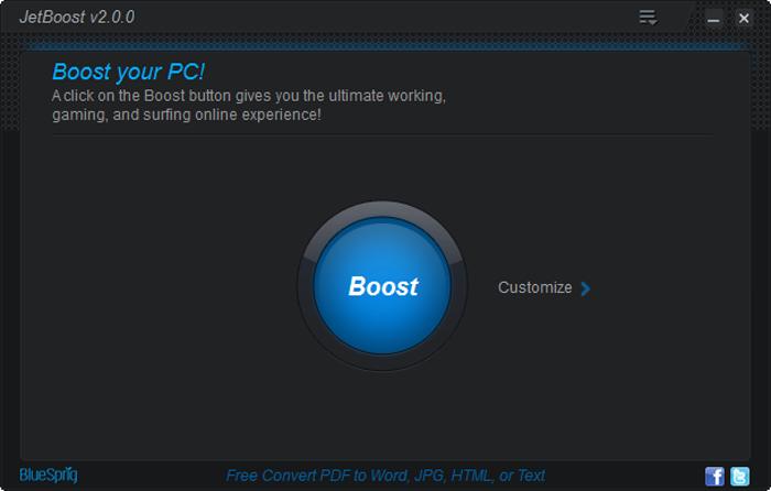 برنامج JetBoost 2.0.0.67 لرفع كفائة